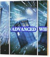 Advanced Whovians Alt Wood Print