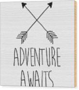 Adventure Awaits Wood Print