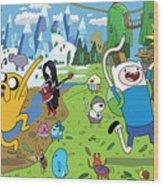 Adventure Time Wood Print