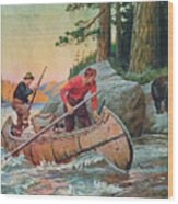 Adventures On The Nipigon Wood Print by JQ Licensing