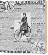 Advertisement, 1891 Wood Print