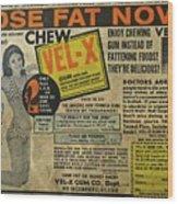 Advertisement Wood Print