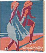Advertisement For Bally Sandals Wood Print by Druck Gebr