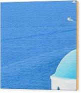 Aegean Blue Wood Print