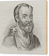 Aelius Galenus Or Claudius Galenus Wood Print