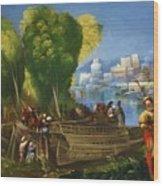 Aeneas And Achates On The Libyan Coast 1520 Wood Print