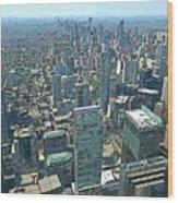 Aerial Abstract Toronto Wood Print