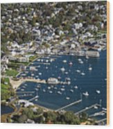 Aerial Edgartown Wood Print