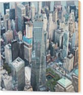Aerial Of One World Trade Center, New York, Usa Wood Print