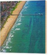 Aerial Over Deerfield Beach Wood Print