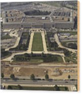 Aerial Photograph Of The Pentagon Wood Print