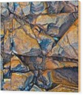 Aerial Rock Abstract Wood Print