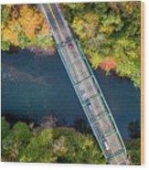 Aerial View Of A Bridge Wood Print