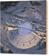 Aerial View Of Ancient Roman Theater Wood Print