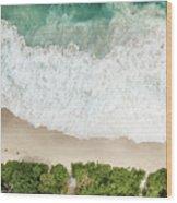 Aerial View Of Anse Intendance - Mahe - Seychelles Wood Print