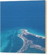 Aerial View Of Cancun Wood Print
