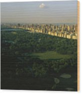 Aerial View Of Central Park, An Oasis Wood Print