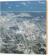 Aerial View Of Fort Lauderdale Airport. Fll Wood Print