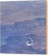 Aerial View Of Hoover Dam Wood Print