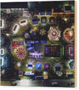 Aerial View Of Norco Fair - Pottstown Pa Wood Print