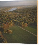Aerial View Of Shiloh. The Tennessee Wood Print