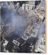 Aerial View Of The Destruction Where Wood Print