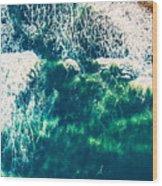Aerial View Of The Ocean Wood Print