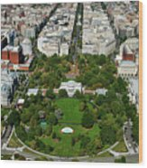 Aerial View Of The White House Wood Print