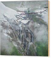 Aerial Waterfall Wood Print