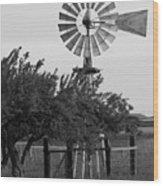 Aermotor Windmill San Joaquin County Ca Wood Print
