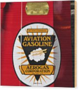 Aerogas Red Pump Wood Print