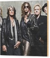 Aerosmith Wood Print