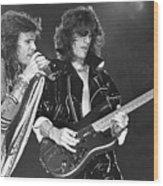 Aerosmith Tyler And Perry Wood Print