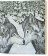 Affection In The Wild Wood Print