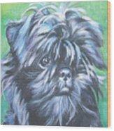 Affenpinscher Portrait Wood Print