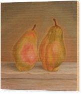 Affinity Pears Wood Print