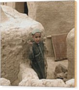 Afghan Child Wood Print
