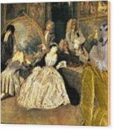 Afghan Hound-at The Artdealer's Shop Canvas Fine Art Print Wood Print