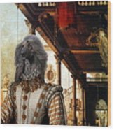 Afghan Hound-capriccio Of Colonade And The Courtyard Of A Palace Canvas Fine Art Print Wood Print
