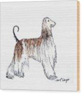 Afghan Hound Wood Print
