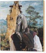 Afghan Hound-falconer And Windmill Canvas Fine Art Print Wood Print
