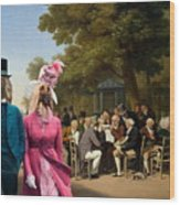 Afghan Hound-politicians In The Tuileries Gardens  Canvas Fine Art Print Wood Print