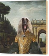 Afghan Hound-the Afternoon Promenade In Rome  Canvas Fine Art Print Wood Print