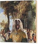 Afghan Hound-the Winch Canvas Fine Art Print Wood Print