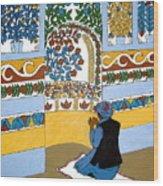Afghan Mosque Wood Print