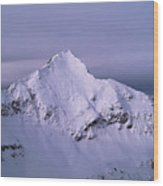 Afley Peak Wood Print