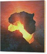 Africa Conceptual Design Wood Print