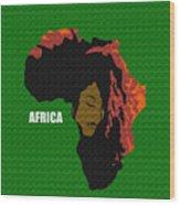 Africa Woman Wood Print