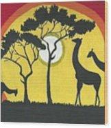 Africa#1 Wood Print