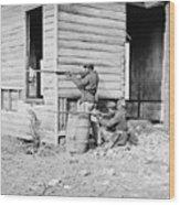 African American Soldiers Aim Wood Print
